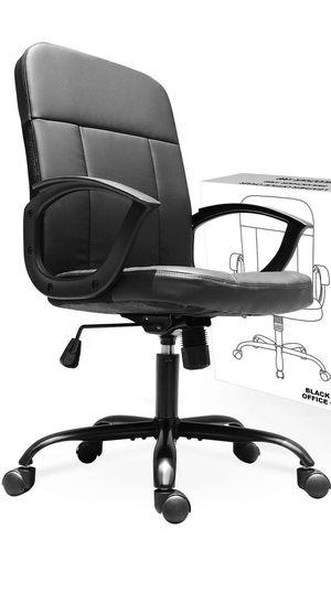 Fantastic Ergonomic Mid Back Leather Office Chair for Sale in Santa Monica, CA
