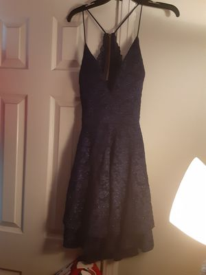 Navy Blue short cocktail/prom dress, L, built in bra, cut out in back with lace zipper. Cute, sexy and great for FL weather! for Sale in Jacksonville, FL