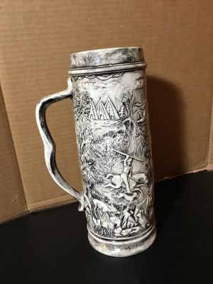 Ceramic beer stein American Indian design home household beverage beer glass stein mug $10 collectible for Sale in Manito, IL
