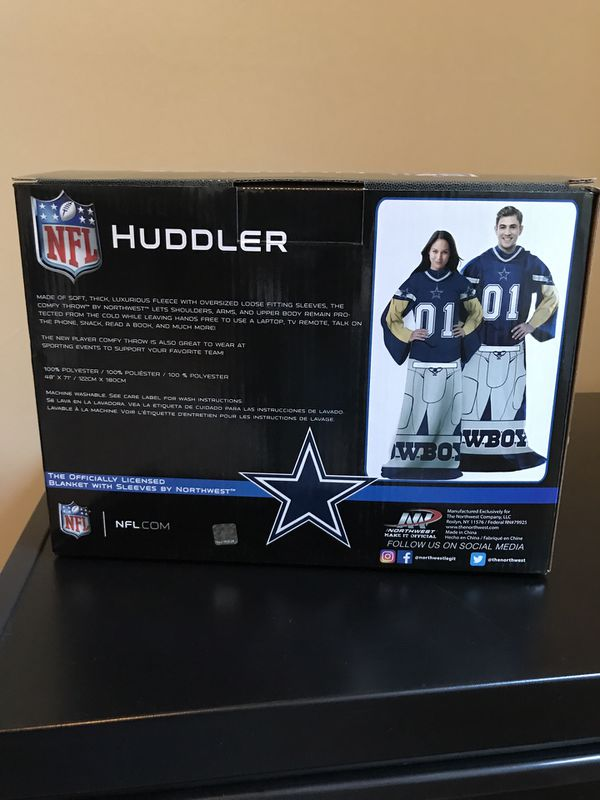 Dallas Cowboys NFL Huddler Blanket with Sleeves