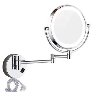 Wall mounted LED Lighted Vanity Makeup Mirror with 10x for Sale in Las Vegas, NV