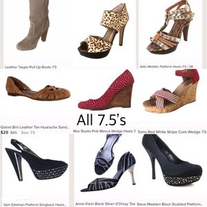 Lot of 7.5 Women's Shoes/Heels/Boots | 9 pairs | Gianni Bini | Steve Madden | Aldo | Toms for Sale in Tampa, FL