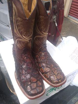 size # 12 new fish skin boots( o r i g i n a l) for Sale in Houston, TX