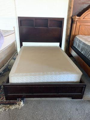 All SolidWood BookShelf Full Size Bed Frame for Sale in Ocala, FL