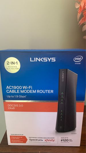 Linksys ac1900 cable modem router for Sale in Lafayette, CA