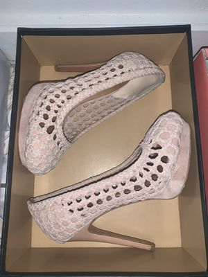 Soft Suede Pink High Heels —LIKE NEW SIZE 6 for Sale in Dallas, TX