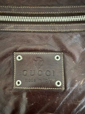 Classic authentic leather GUCCI laptop carrying bag for Sale in Santa Monica, CA