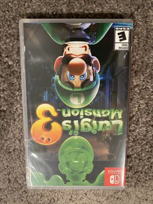 LUIGI'S MANSION NINTENDO SWITCH for Sale in Baltimore, MD