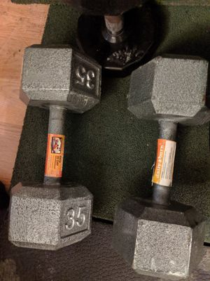 35lbs pair dumbbells for Sale in Springfield, VA