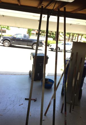 Steel rod for shelving shelf metal 8ft and 5ft for Sale in San Diego, CA