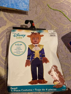 Disney baby beast 4 piece costume set size 6-12 mos for Sale in San Jose, CA