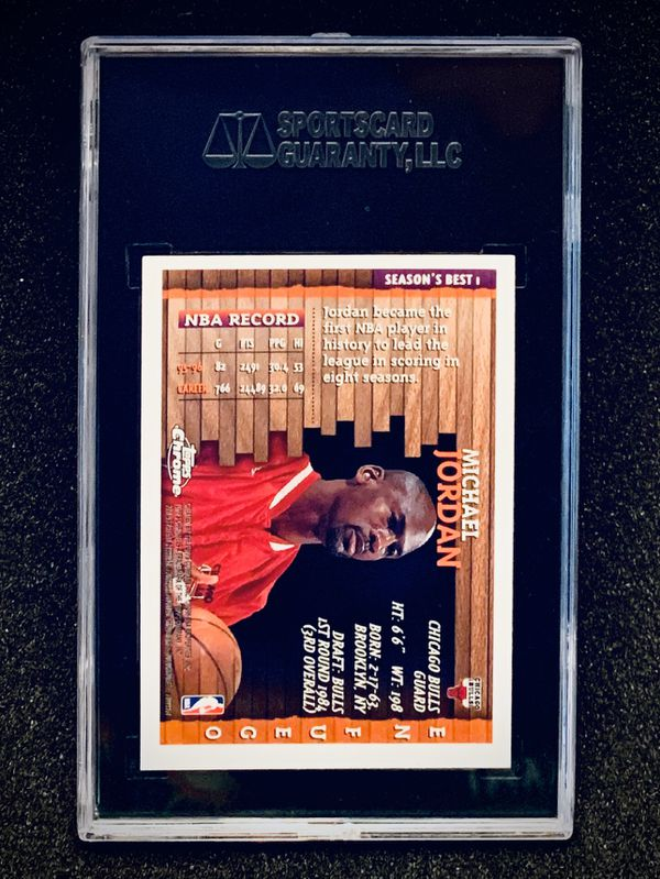 1996-97 Topps Chrome Michael Jordan Season's Best SGC 10 Gem Mint