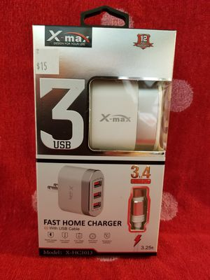Type-C USB charging cable available with travel car adapter or wall adapter or cable by itself fast charging fast charger cables also available Bz5 for Sale in Moreno Valley, CA