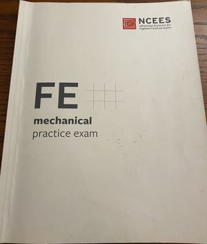 FE mechanical practice exam for Sale in Helotes, TX
