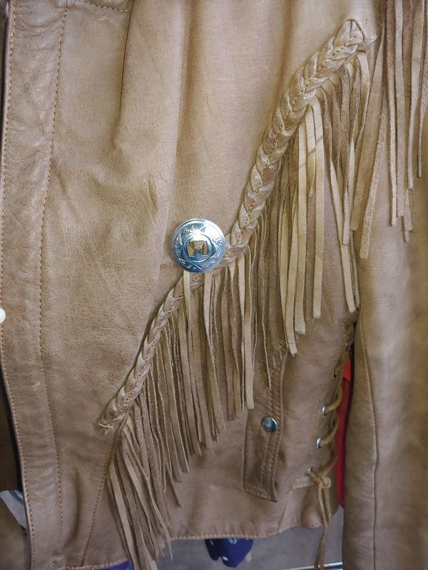 Open Road men's Medium M fringe leather jacket Joe Exotic