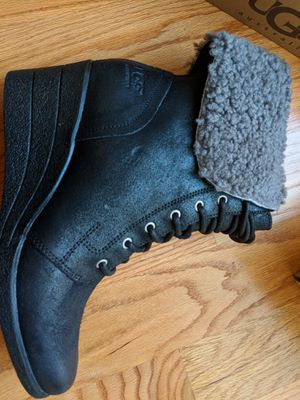 Brand new authentic UGG black laced up wedged booties women size 9 for Sale in San Francisco, CA