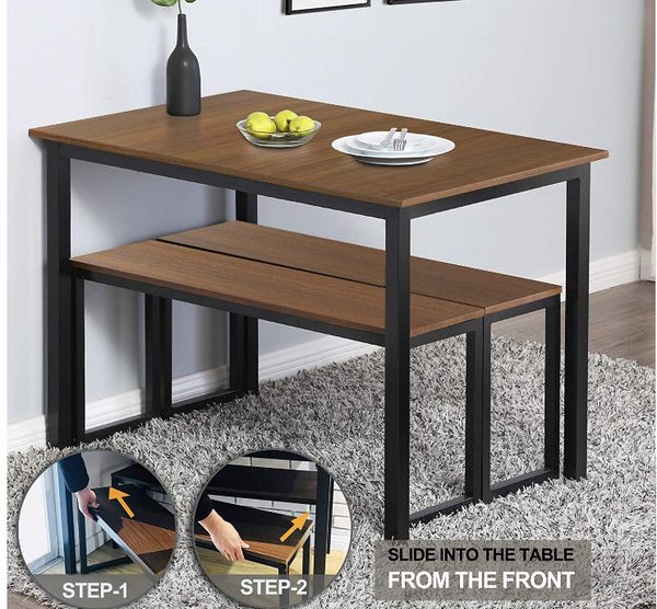 Dinning Table and Bench Set