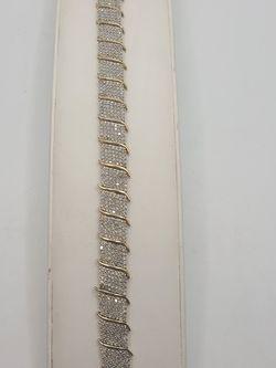 10k Gold 5ctw Diamond Bracelet for Sale in Croydon,  PA