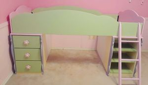 Ashley Furniture Pastel Twin Loft Bed With Dresser for Sale in Plano, TX