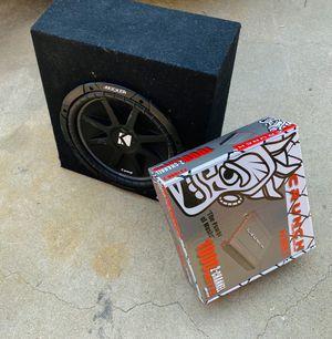 $150 no less / Kicker Comp 12 inch Sub / ELine Sub Box / new amp for Sale in Sanger, CA