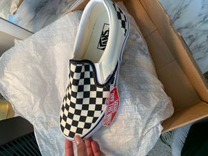 (Brand New) with tags Vans slip on black and white for Sale in Newport News, VA