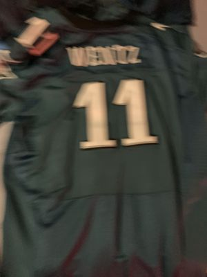 3XL stitched Wentz Jersey with super bowl patch for Sale in Ambler, PA