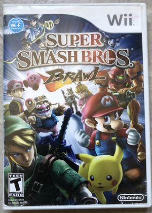 Wii Super Smash Bro's Brawl for Sale in Costa Mesa, CA