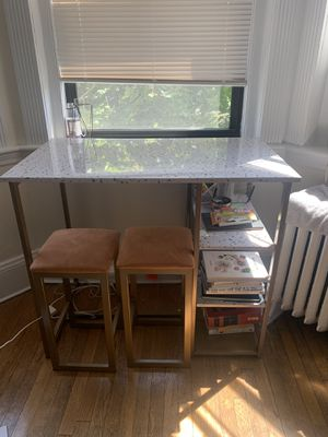 High Top Table & Chairs by Novogratz for Sale in Boston, MA