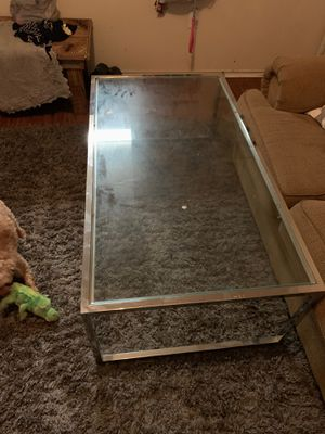 Durable Modern metal glass coffee table for Sale in Sweetwater, TX