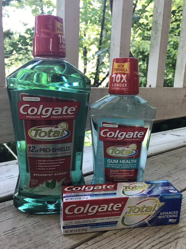 Colgate Mouth Wash and Toothpaste