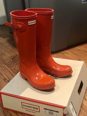Hunter Orange Tall Rain Boots - Size 4 Kids or 36 Women for Sale in Rockville, MD