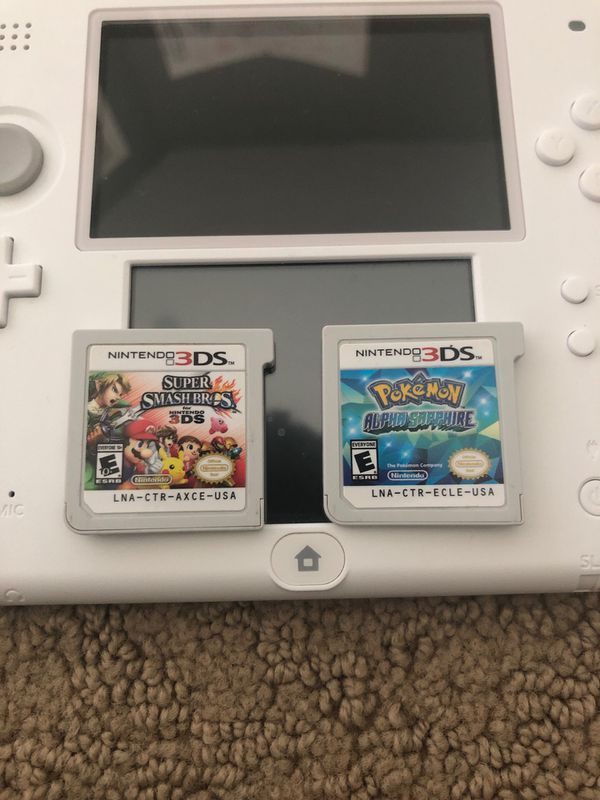 Nintendo 2DS White & Red WITH games & charger
