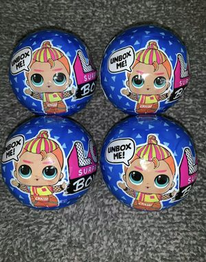 Lot of 4: LOL Surprise series 2 Boys Balls for Sale in Corona, CA