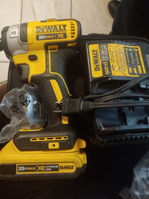 Dewalt 20 v max brand new 3 speed,,, charger and battery used for Sale in Phoenix, AZ