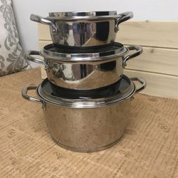 Tramontina 18/10 Stainless Steel 6PC Sauce Pot Set for Sale in Irvine,  CA