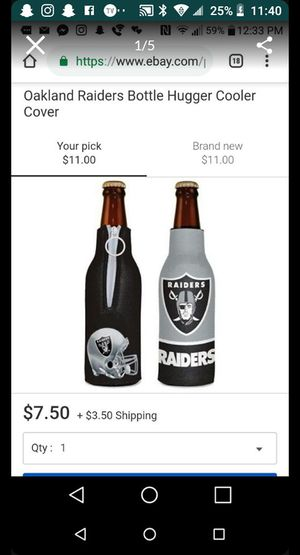 Brand new raider beer hugger cooler for Sale in Fresno, CA