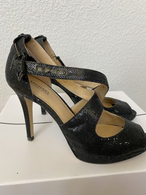 Michael Kors black strappy heels for Sale in Morgan Hill, CA