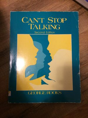 Can't Stop Talking (second edition) textbook for Sale in Pittsburgh, PA