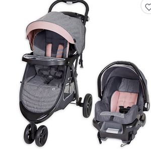 Brand New use less than a Week Baby Trend Skyline 35 Travel System, Starlight Pink for Sale in Pickerington, OH