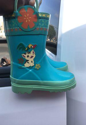 Moana Rain Boots (sz 10) kids for Sale in Houston, TX