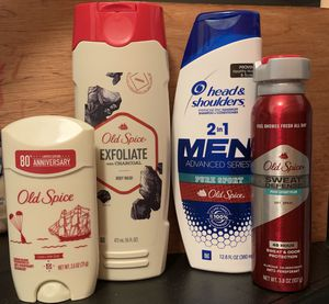 Old spice & head and shoulders for Sale in Fontana, CA
