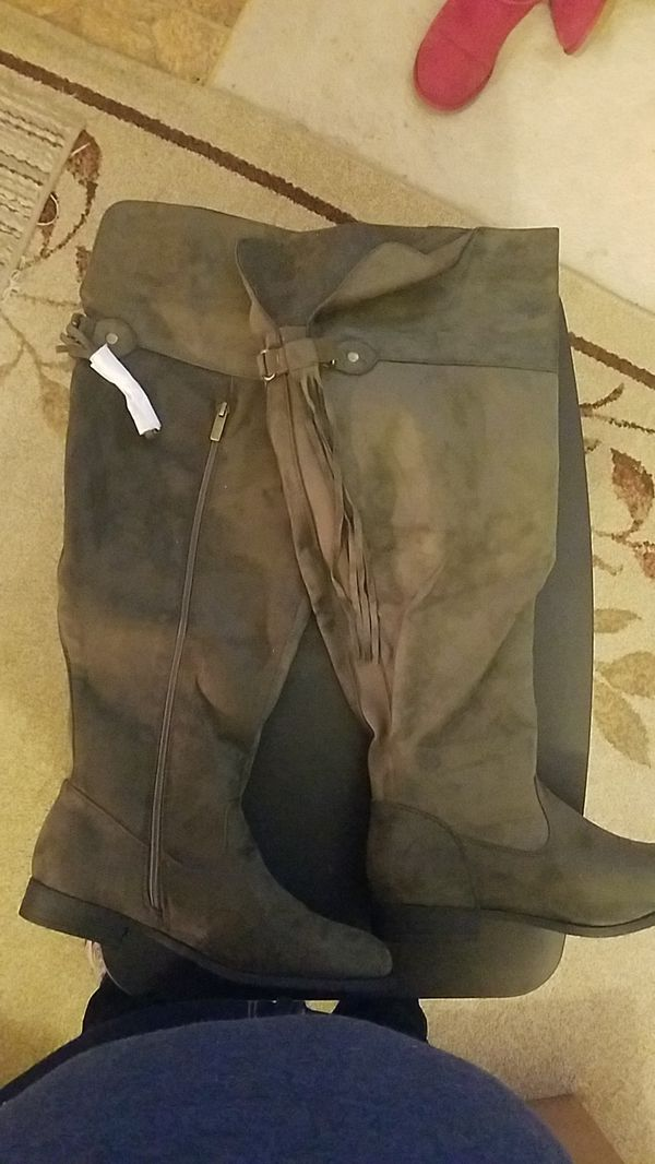 Womens thigh high suede boots