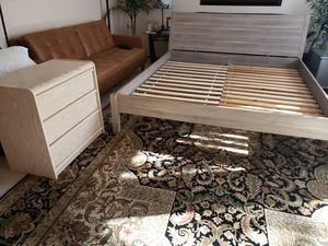 King size Bed Frame with Dresser for Sale in Lynnwood, WA