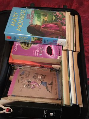 Suitcase full of books for Sale in Norfolk, VA