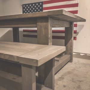 Revival Designs - Briarsmoke Farmhouse Table with matching bench for Sale in Normal, IL
