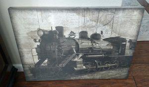 Train picture canvas print for Sale in Visalia, CA