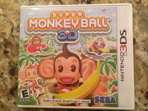 Nintendo 3DS game: Super Monkey Ball 3D for Sale in Atlanta, GA