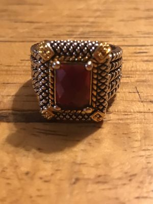 BRAND NEW LADIES CABLE STYLE RING WITH DARK PINK CZ SIZE 8 for Sale in Seaford, DE
