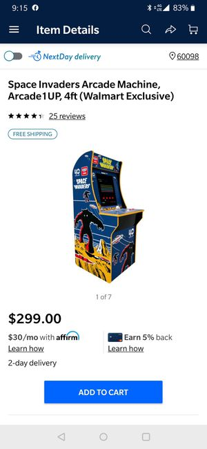 1up Space Invaders arcade - new for Sale in McHenry, IL