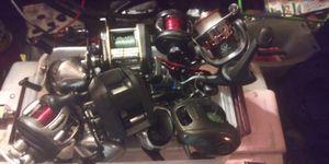 11 vintage fishing reels Abu Garcia Bass Pro ambassadeur for Sale in Deville, LA